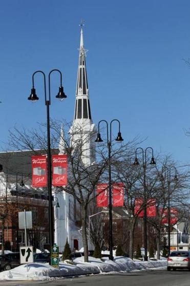 The Churchs Spire Was A Local Landmark